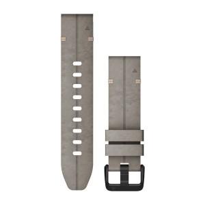 QuickFit® 20 сива кожена каишка