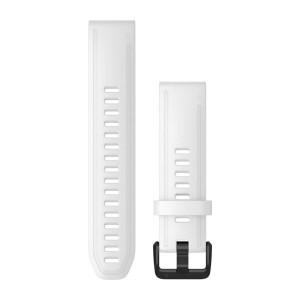 QuickFit® 20 бяла силиконова каишка с черно