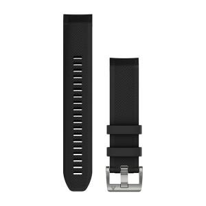 QuickFit® 22 черна силиконова каишка