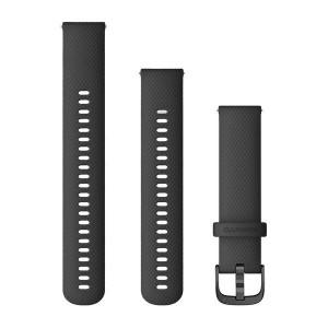 Бързоосвобождаваща се каишка - Черна със сиво (20 мм)