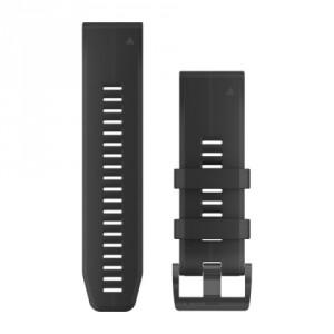 QuickFit® 26 черна силиконова каишка