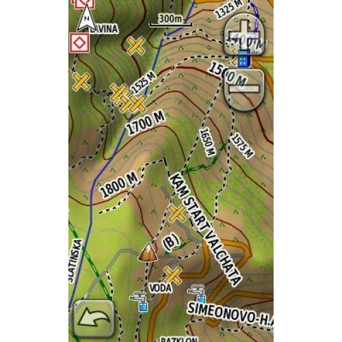 Navigacionna I Off Road Karta Na Blgariya Topo